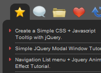 jQuery Tabbed Interface, Tabbed Structure Menu