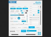 White blue web,ui elements pac