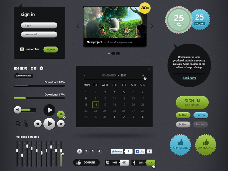 Futurico – Free User Interface Elements Pack | UICloud