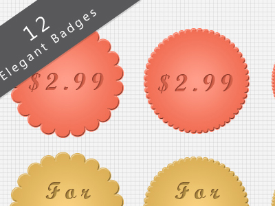 12 Elegant Badges