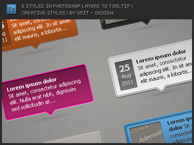 6 Styles in Photoshop Layers to Tooltip