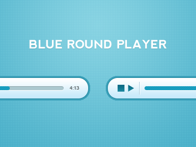 Blue Round Player