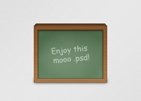 Chalkboard icon psd