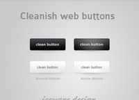 Cleanish Web Buttons