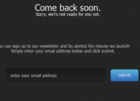 Dark Sign-Up Page PSD