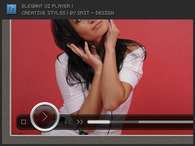 Elegant UI Player in psd