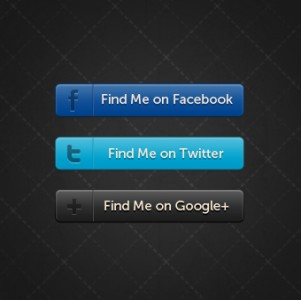 Horizontal Social Buttons