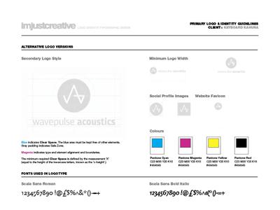 Logo identity guideline template for FREE download