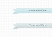 Ribbons – new and worn
