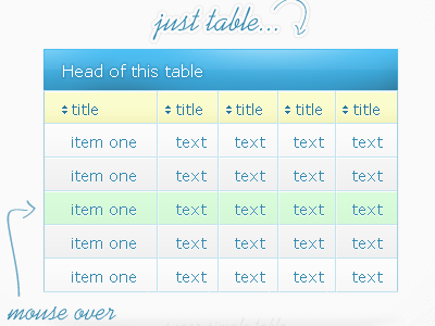 Simple Bright Table