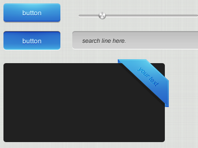 Simple and Clean Blue Web Elements