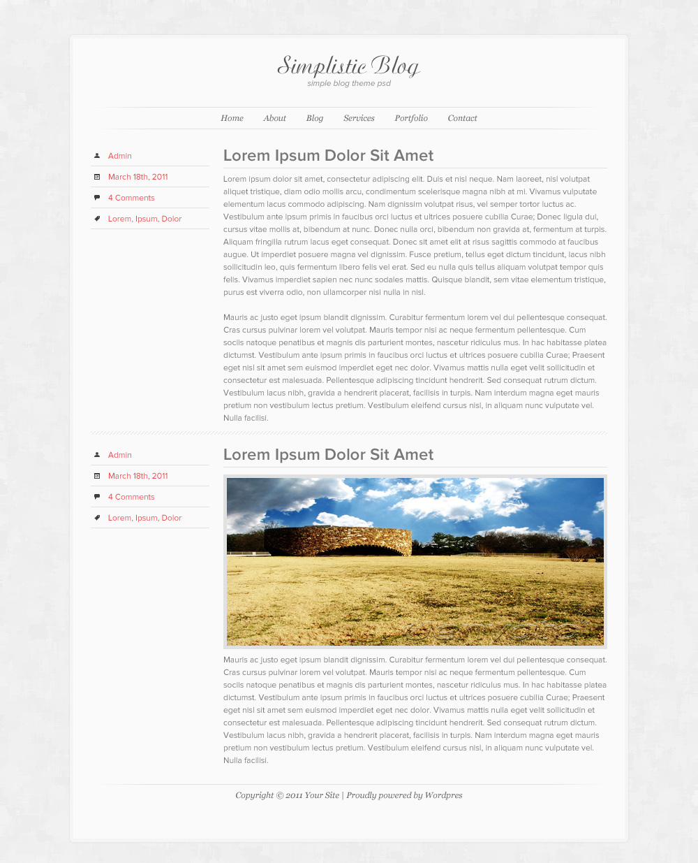 Simplistic Blog Design