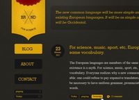 Site template – dark and yellow
