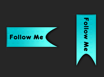 Twitter Follow Ribbon