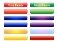 Vector Editable Glossy Buttons