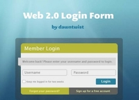 Web 2.0 Login Box