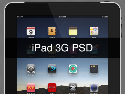 iPad 3G PSD | UICloud