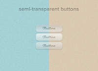 semi-transparent buttons