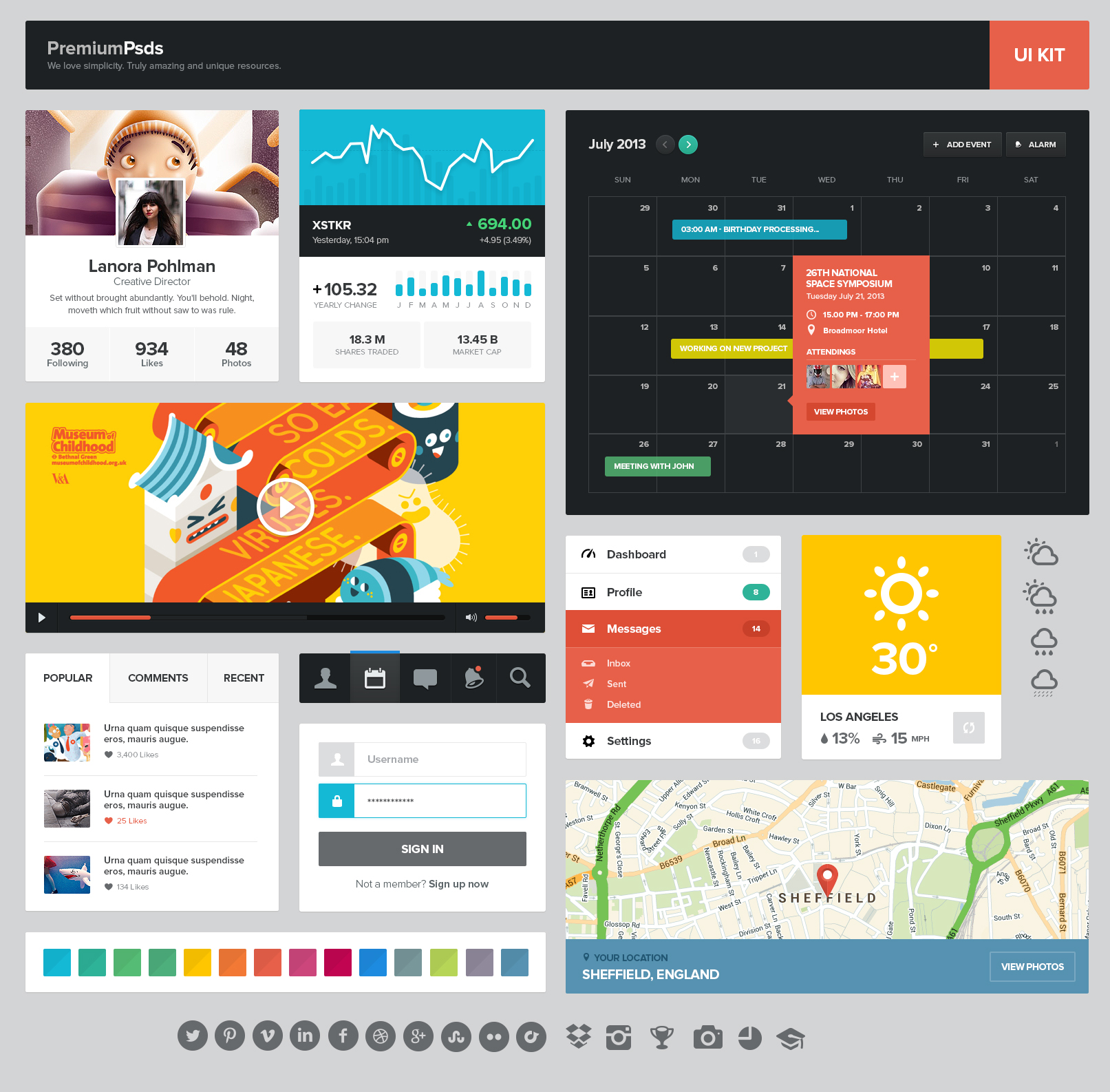 Web Design Software Best: Freebie PSD UI Kit