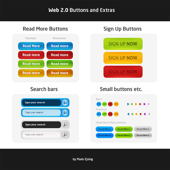 Web 2.0 Graphics – Free .PSD