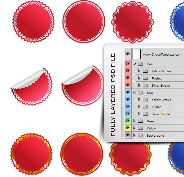 36 Sticker Templates – Ultimate PSD Pack New