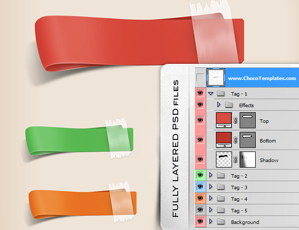 4 Free PSD Ribbon Templates