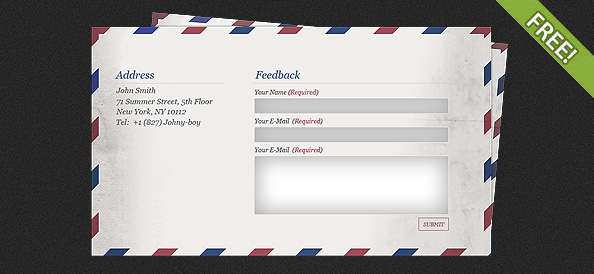 Mail Feedback Form