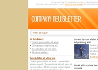 Orange Email Marketing Newsletter Template