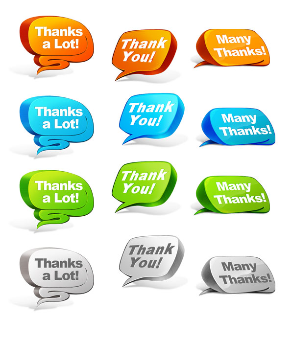 PSD Thank You Bubble Set