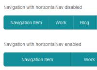Horizontal Nav