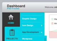 Dashboard UI Elements PSD