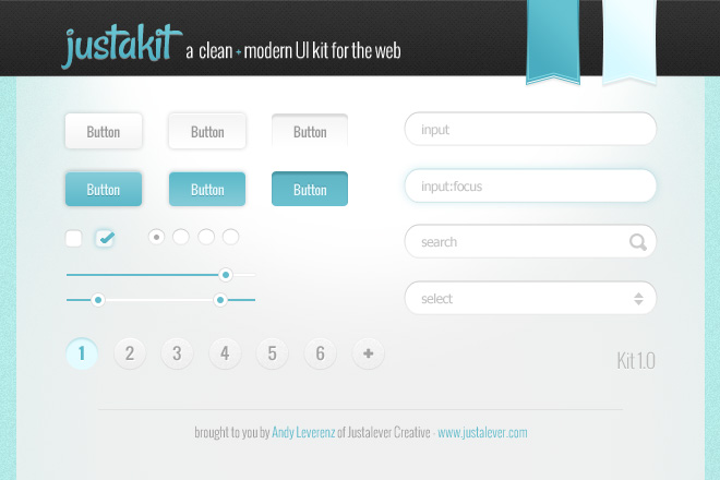 Justakit – A Clean & Modern Free UI Kit