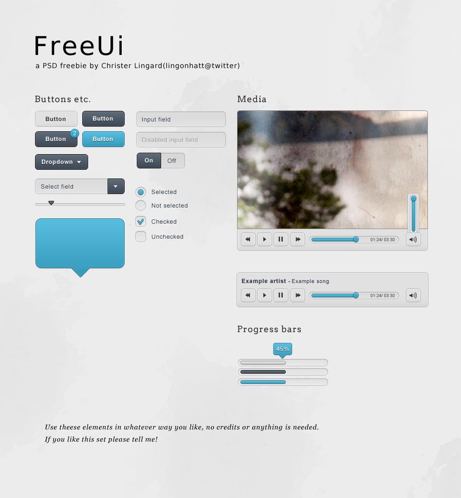 FreeUi – A small web UI set