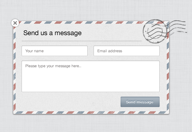 modal contact form template uicloud