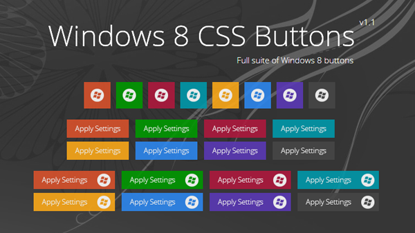 CSS Windows 8 Metro Buttons