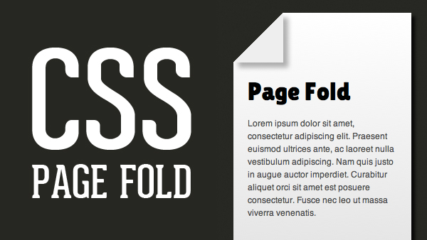 CSS Page Fold
