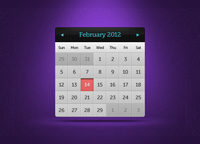Calendar Widget PSD