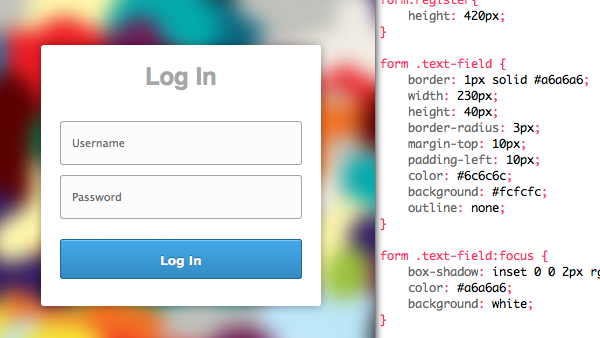 HTML Login Register Forms