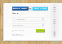 Login & Signup Form PSD