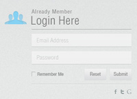 Minimal Login Form PSD