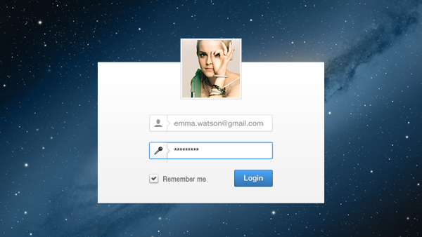 Minimal Login User Interface