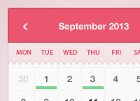 Simple & Sweet Calendar Widget