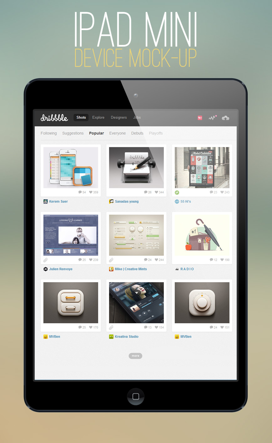 ipad mini mock-up template | uicloud, Powerpoint templates