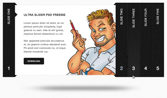 Ultra Sleek Accordion Slider: Free PSD Template