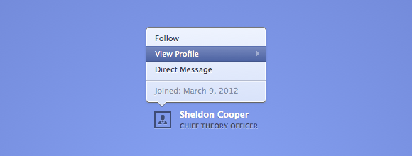 Animated Profile Popover