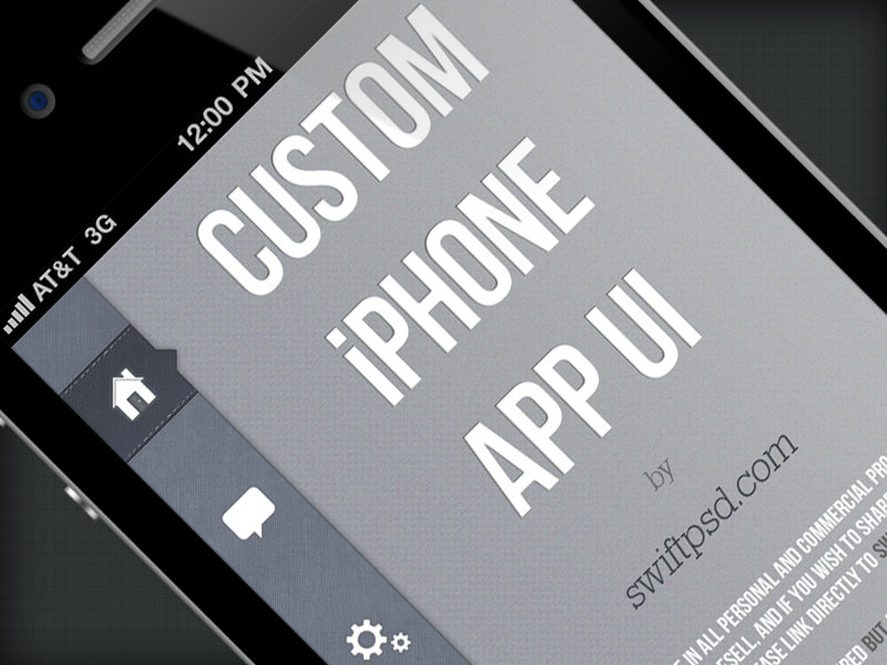 Custom iPhone App UI – PSD -