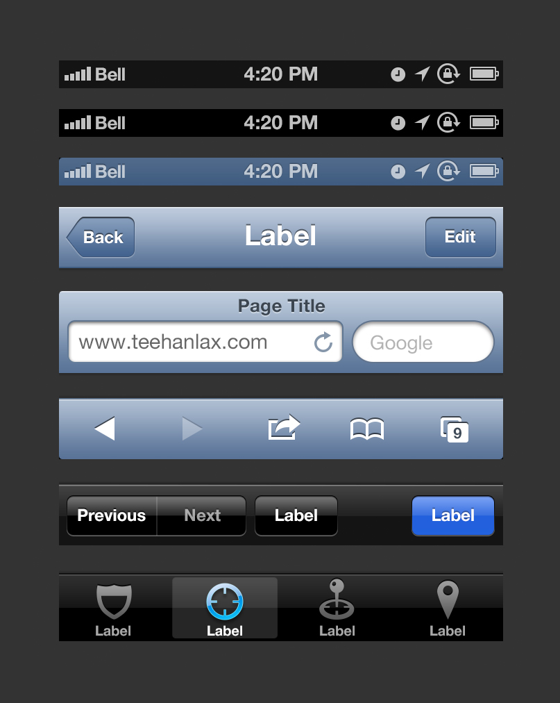 iOS 6 GUI PSD (iPhone 5)
