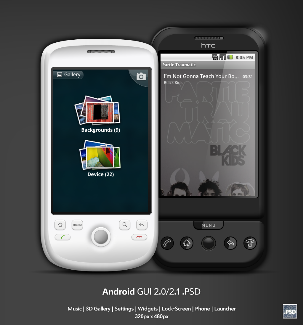 Android 2.0-2.1 GUI