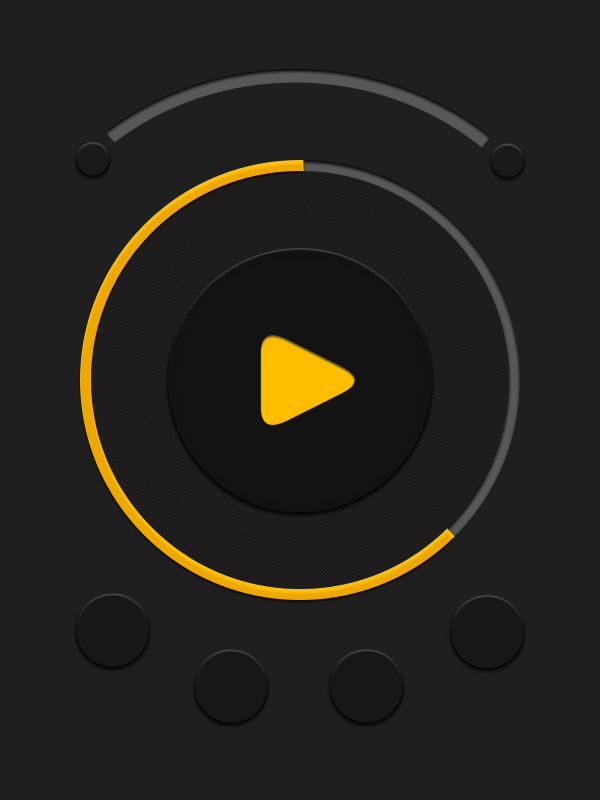 iPhone music player interface