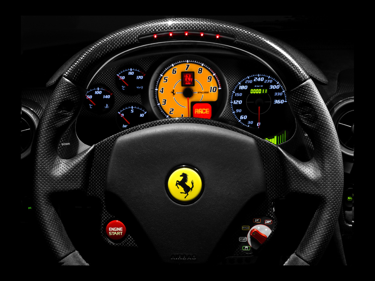 Ferrari f1 steering wheel wallpaper